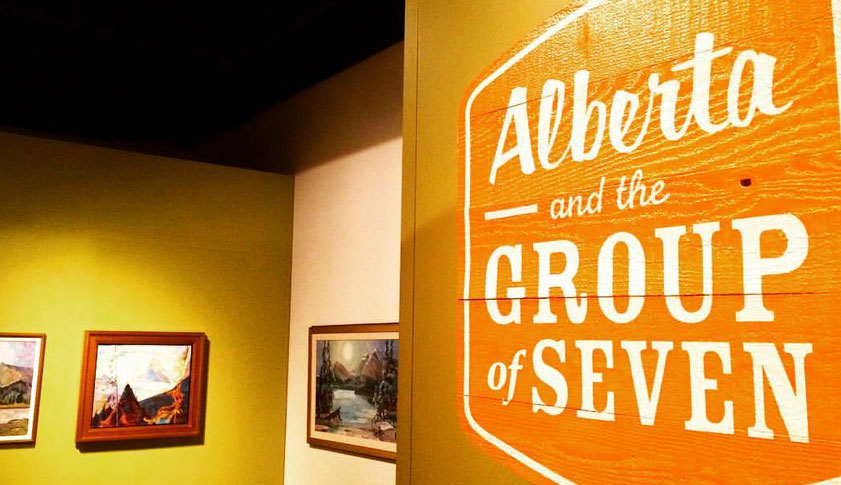 A sign at the entrance to the Alberta and Group of Seven museum and art gallery.