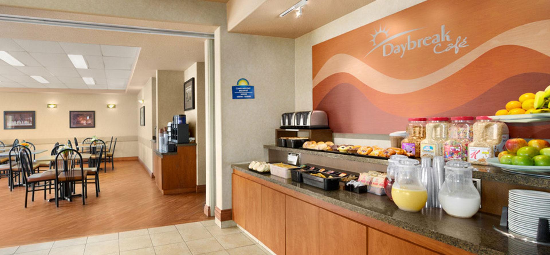 Large View Of The Breakfast Room At Days Inn Red Deer Alberta Overlooking Stocked